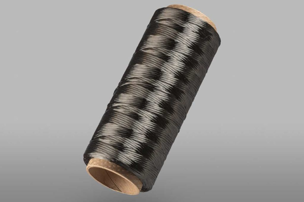 Twisting of carbon fiber
